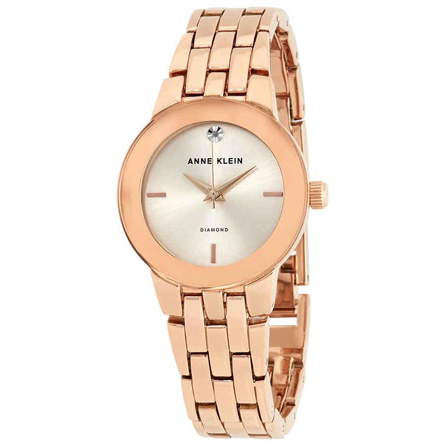 21af3f420a4 Anne Klein Rose Dial Ladies Watch 1930RGRG 86702555215 | eBay