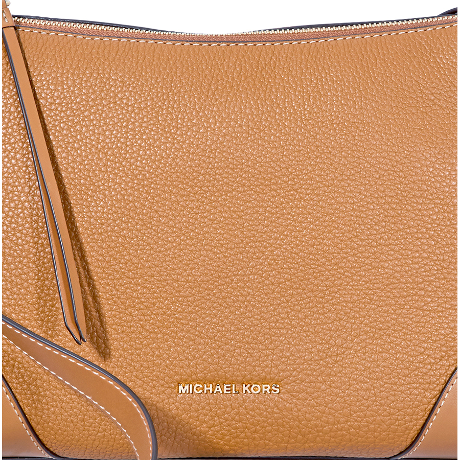 Michael-Kors-Crosby-Medium-Pebbled-Leather-Messenger-Bag-Choose-color miniatura 5