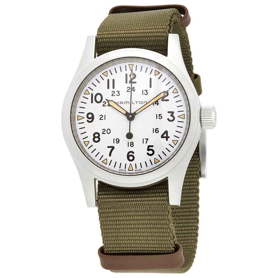 Hamilton Khaki Field Mechanical White Dial Men's Watch H69439411   eBay