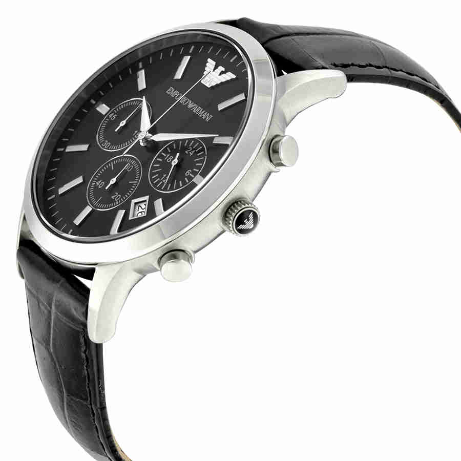 2e5ecefc5e6f Emporio Armani Chronograph Black Dial Men s Watch AR2447