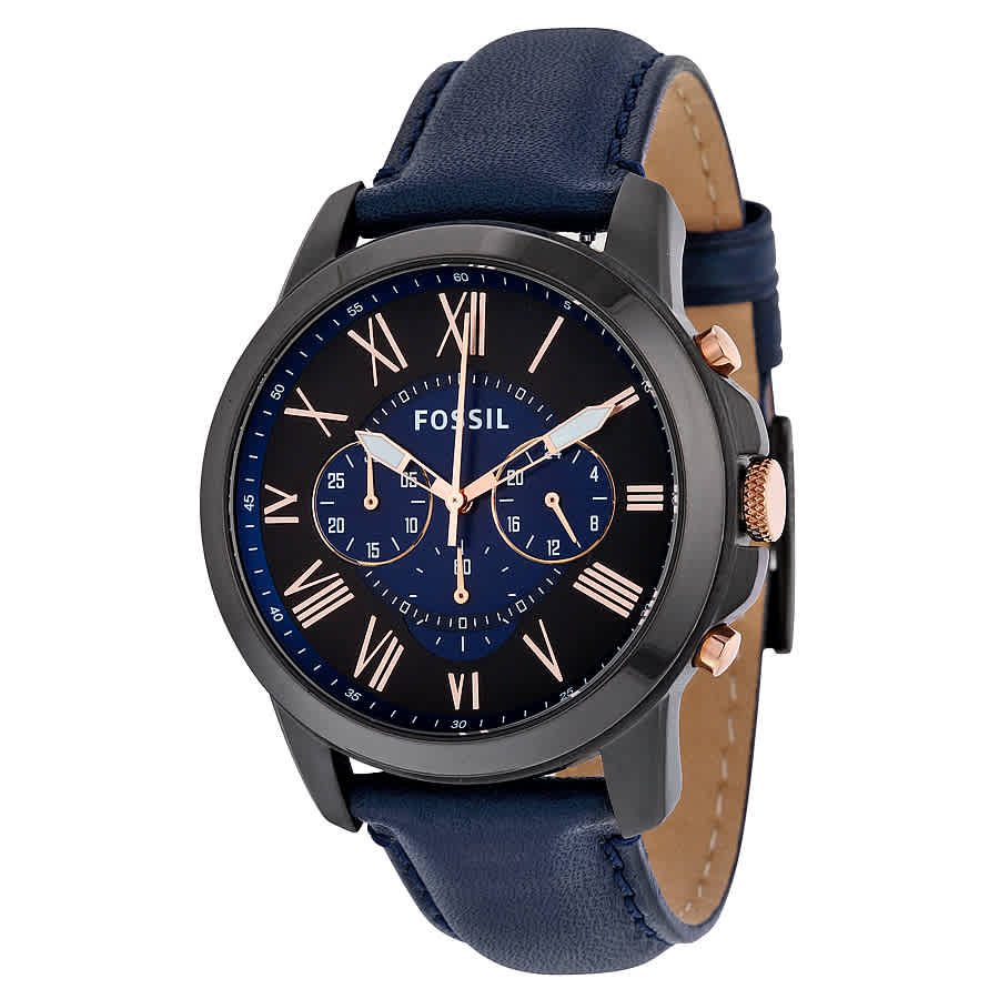 fee5034f3b48 Fossil Grant Chronograph Black and Blue Dial Men s Watch FS5061IE