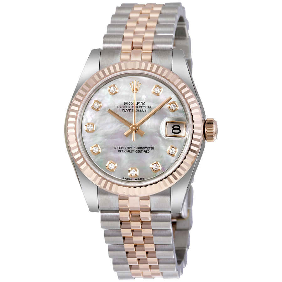 725cd4e6cc5 Rolex Datejust Lady 31 White Mother of Pearl Dial Stainless Steel and 18K