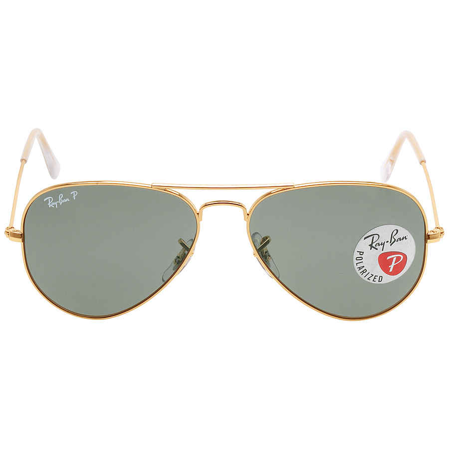 2c17bfda3 Ray Ban Original Aviator Green Polarized Sunglasses RB3025 001/58 55 ...