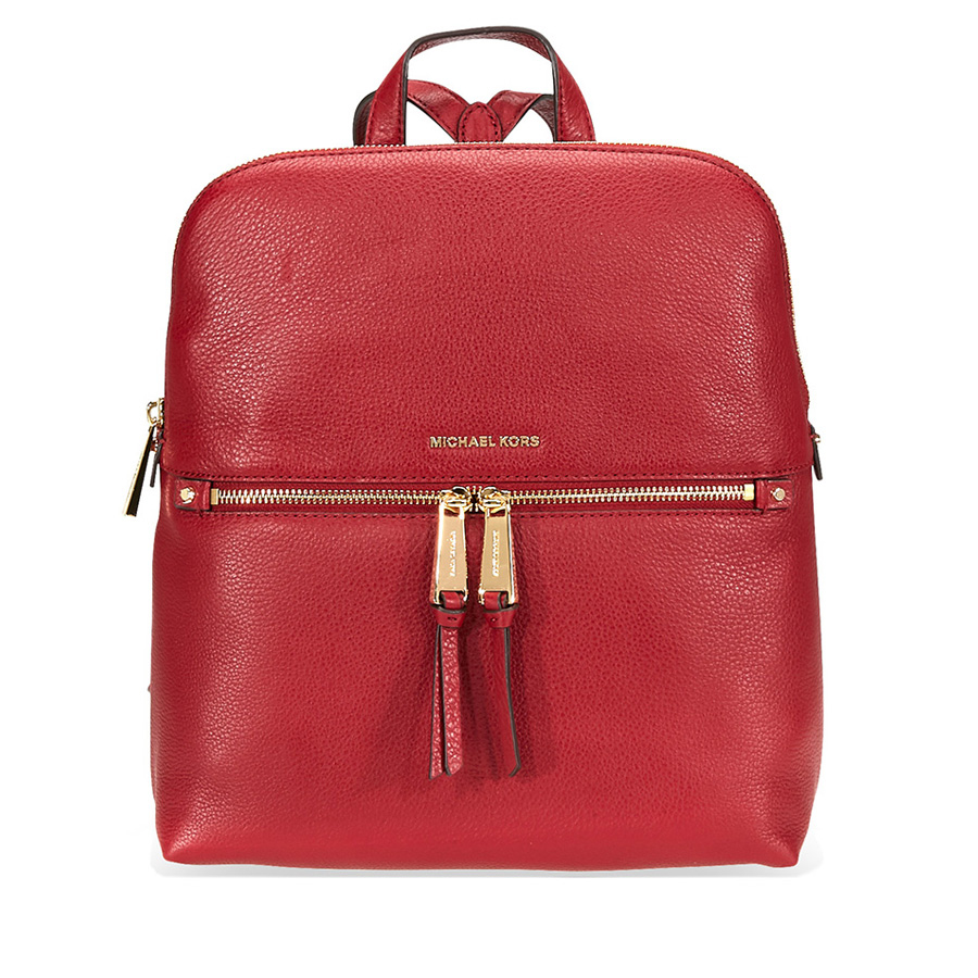 2f763b67983d Michael Kors Rhea Medium Slim Leather Backpack- Maroon 30H6GEZB2L ...