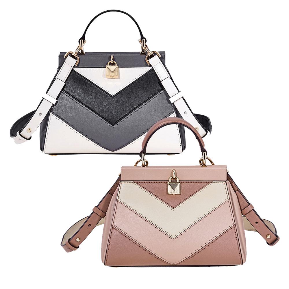 Michael Kors Gramercy Small Tri-Color Leather Satchel - Choose color ... c520a3d55d