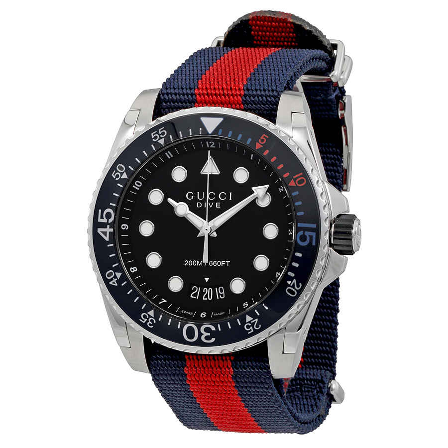 0dcd7dbdfe7 Gucci Dive Black Dial Men s Watch YA136210 731903385238