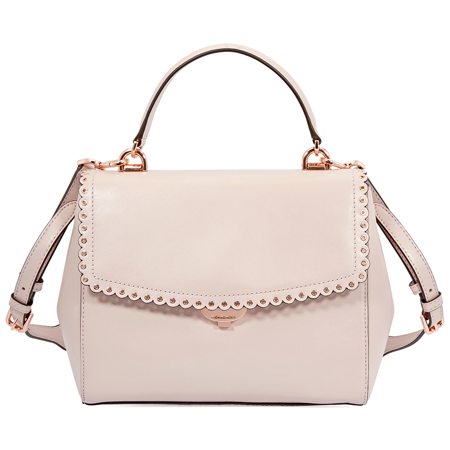ae7a0cabf537a Michael Kors Ava Medium Leather Satchel- Soft Pink 30T8TAVS9I-187 ...