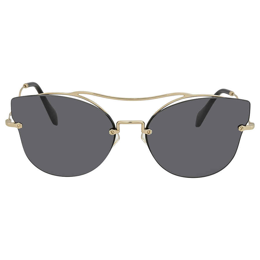 180b283d58 ... Miu Miu Grey Cat Eye Ladies Sunglasses 0MU 52SS ZVN1A1 62 0MU 52SS  ZVN1A1 62
