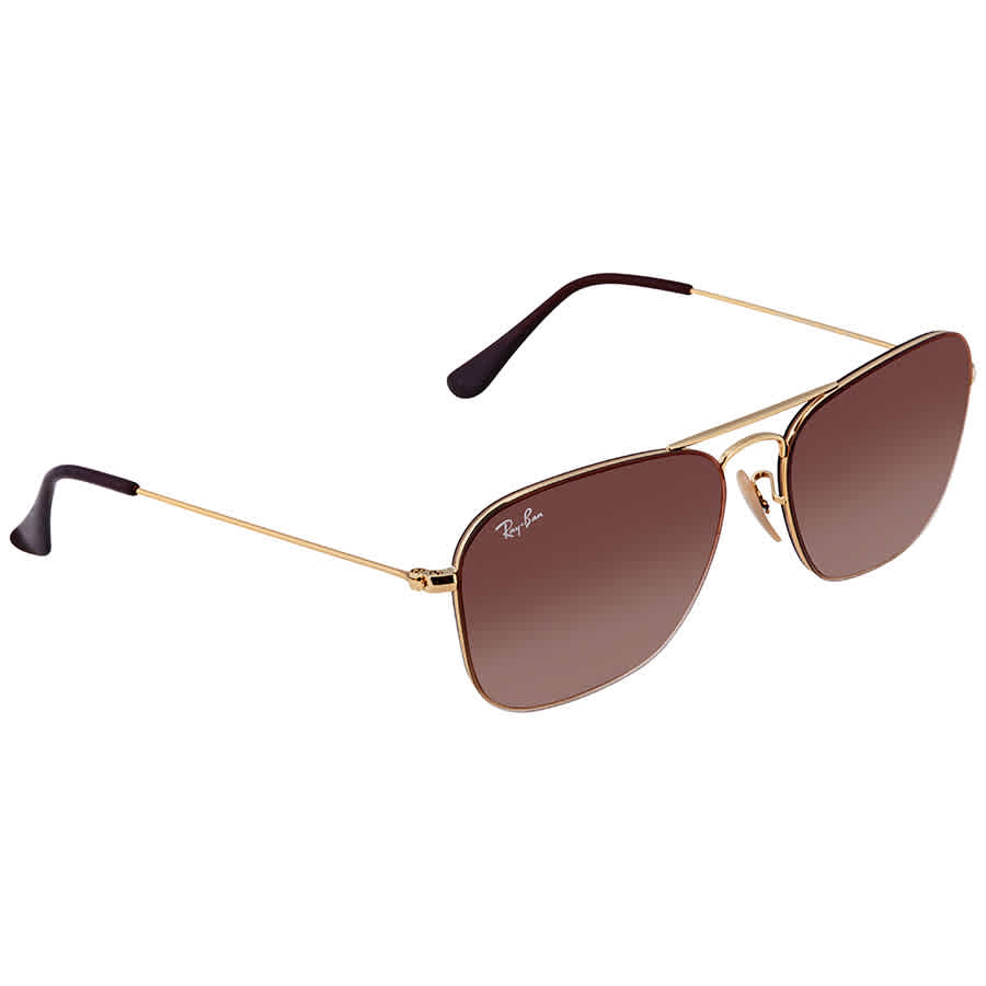 ea7b8c74c9 Ray Ban Brown Gradient Mirror Square Sunglasses RB3603 001 S056 ...