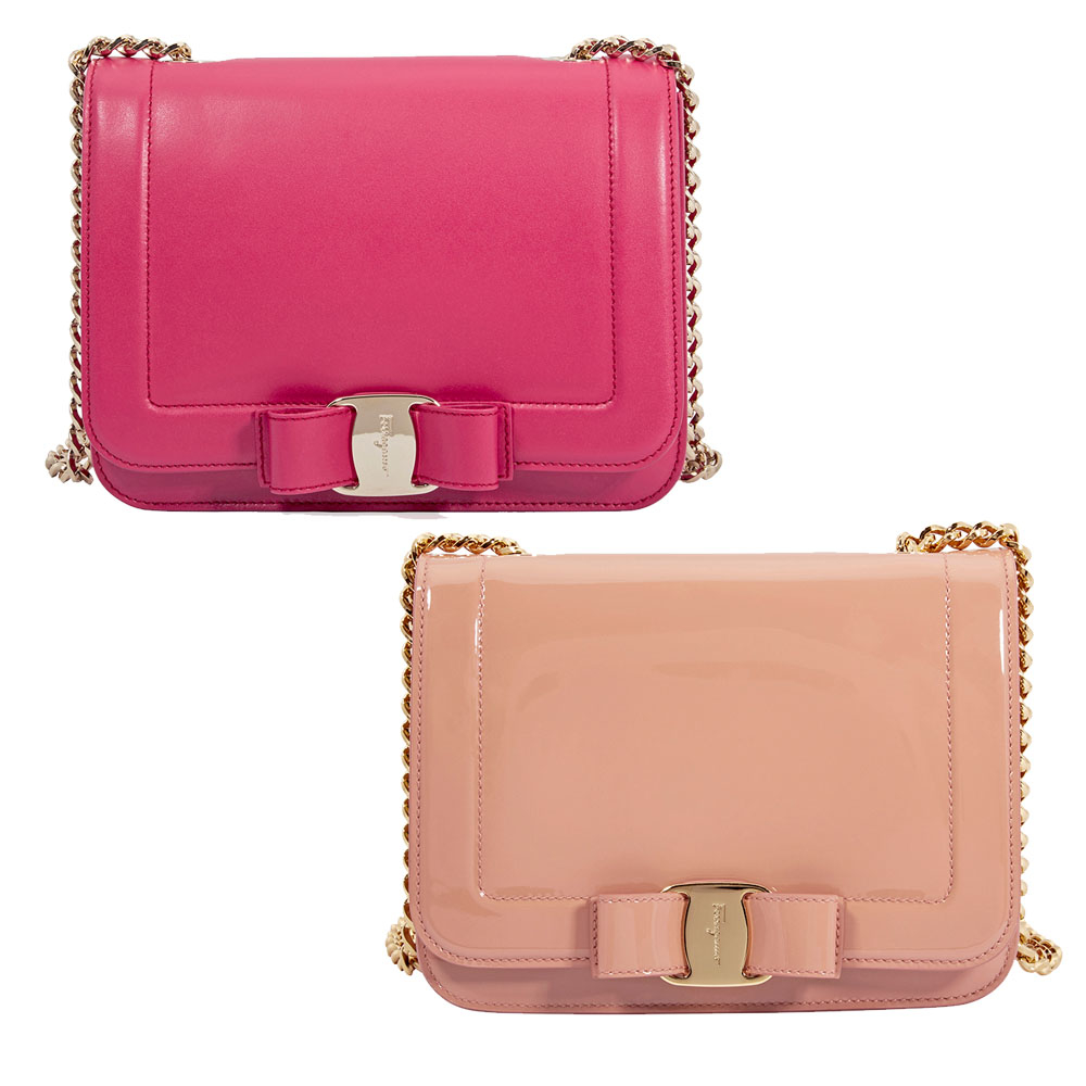 006b7ca7307 Ferragamo Vara Bow Leather Crossbody Bag - Choose color