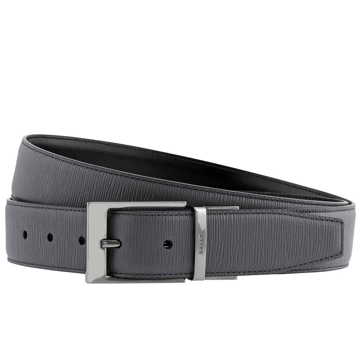Versace Collection Men/'s Teal Leather Belt W// Silver Metal Buckle 115cm NEW