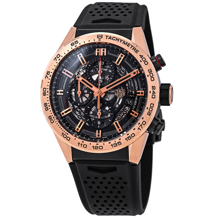 542ac650206b0 Tag Heuer Carrera Chronograph Automatic Black Skeleton Dial Men s Watch
