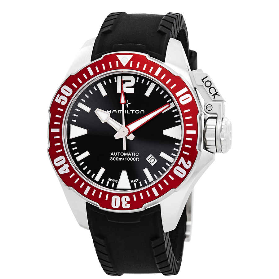 Details About Hamilton Khaki Navy Automatic Black Dial Men S Watch H77725335