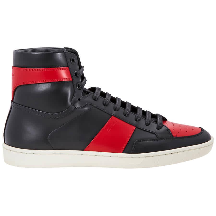 193eeddd7bb Saint Laurent Men's Court Classic SL/10H High Top Black/Red Sneaker- Size  40.5