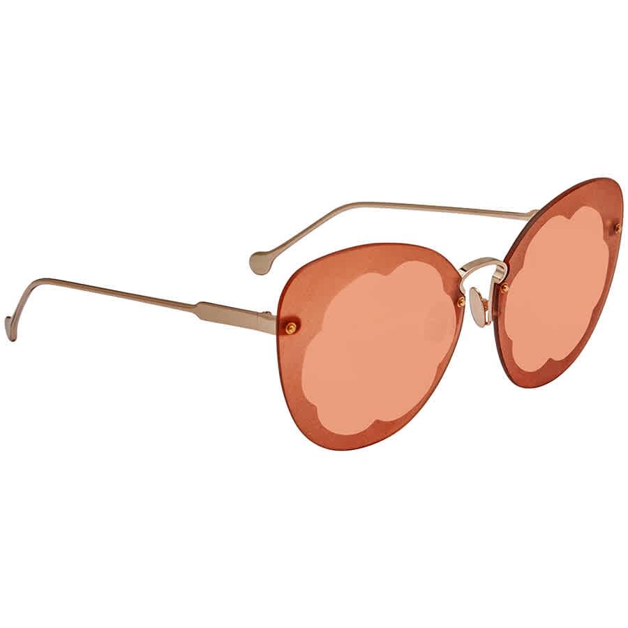 Salvatore Ferragamo Pumpkin Butterfly Ladies Sunglasses Sf178s Fiore 719 63 886895339117 Ebay
