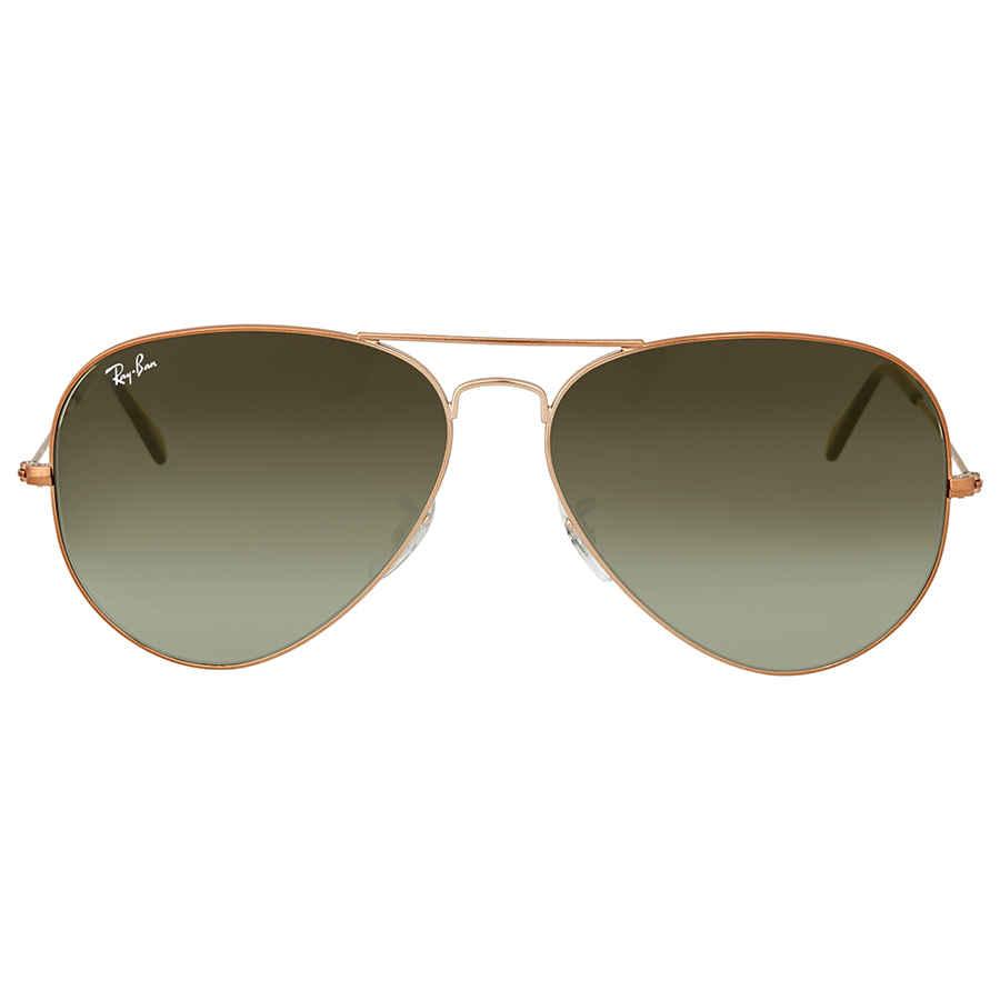 bd36a9e549 Ray Ban Green Gradient Aviator Sunglasses RB3026 9002A6 62 ...