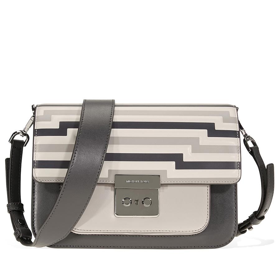 Details about Michael Kors Sloan Editor Tri Color Leather Shoulder Bag 30F8TS9L9X 031