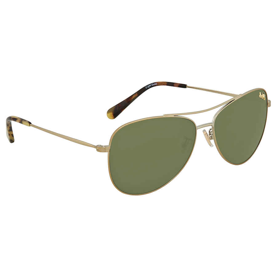 9c4e3bb393 Coach Dark Green Aviator Sunglasses HC7079 932271 58 725125989398