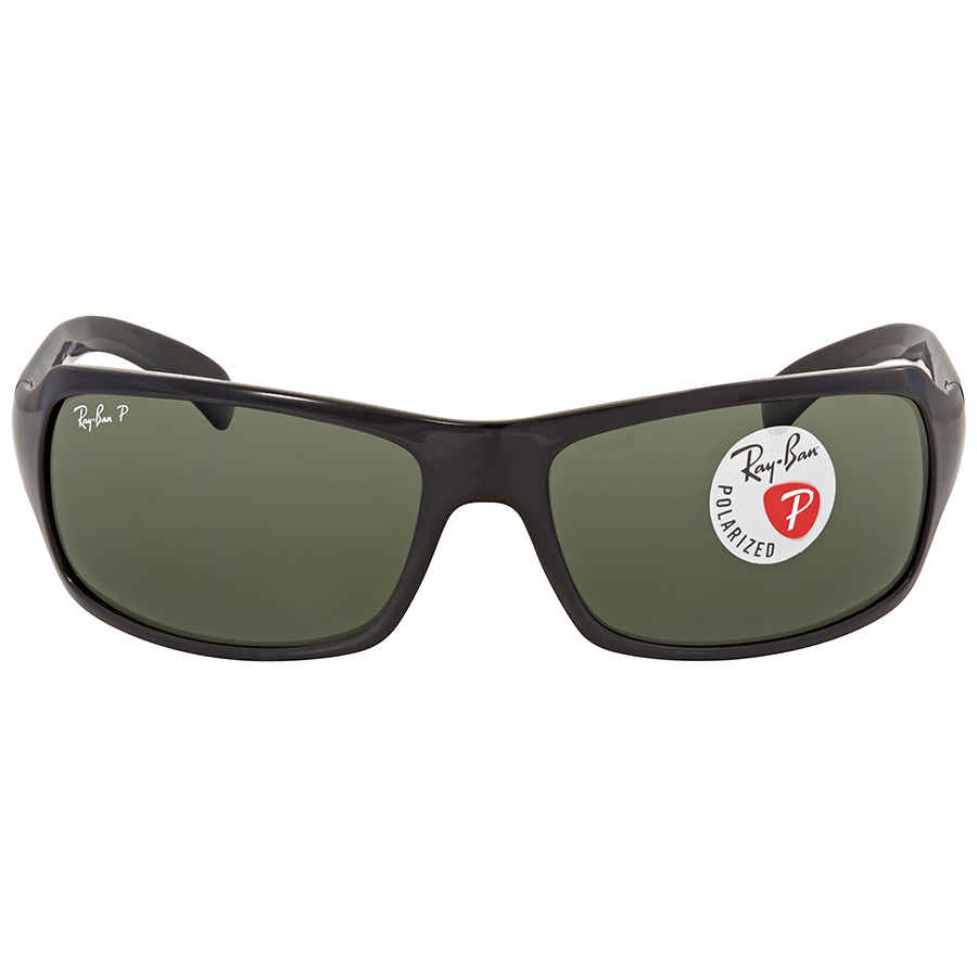 c03b57ee80 Ray Ban Polarized Green Classic G-15 Rectangular Sunglasses RB4075 60158 61