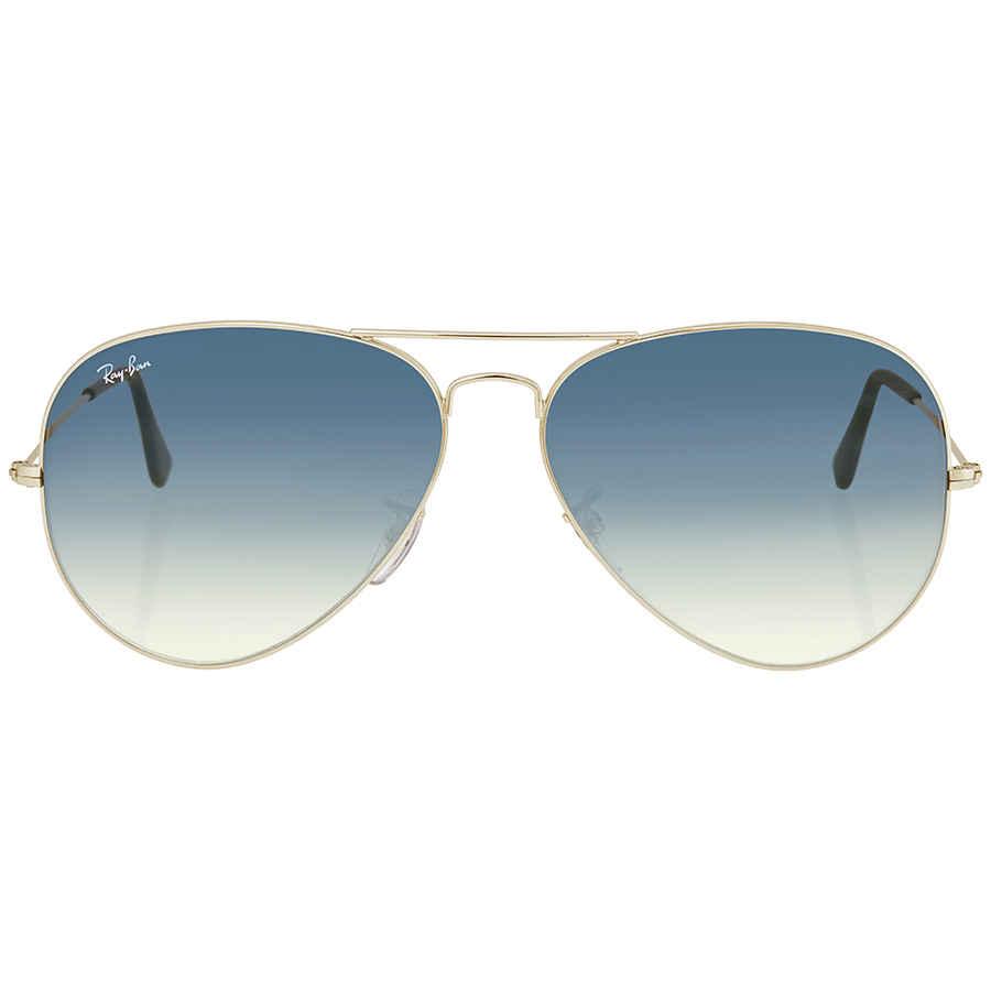 Ray Ban Aviator Light Blue Gradient Men s Sunglasses RB3025 003 3F ... d35893c383