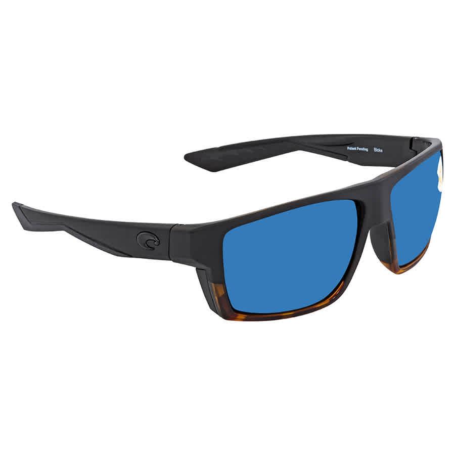 39cb57916a Costa Del Mar Bloke Blue Mirror Polarized Plastic Rectangular Men s  Sunglasses BLK 181 OBMP