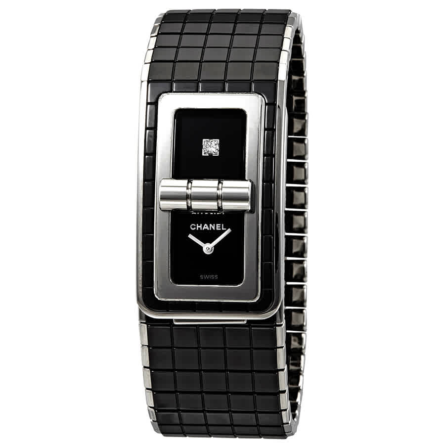 Details About Chanel Black Code Coco Black Diamond Dial Ladies Steel And Ceramic Watch H5147