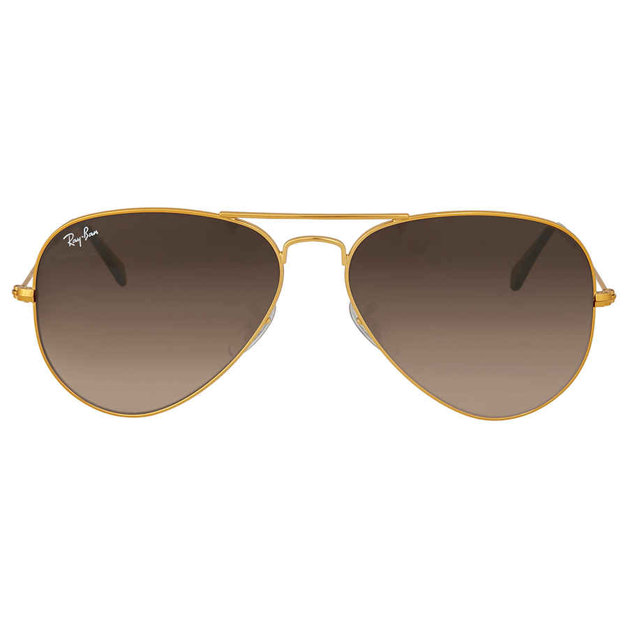 92066535c5 Ray Ban Brown Gradient Aviator Sunglasses RB3025 9001A5 58 ...