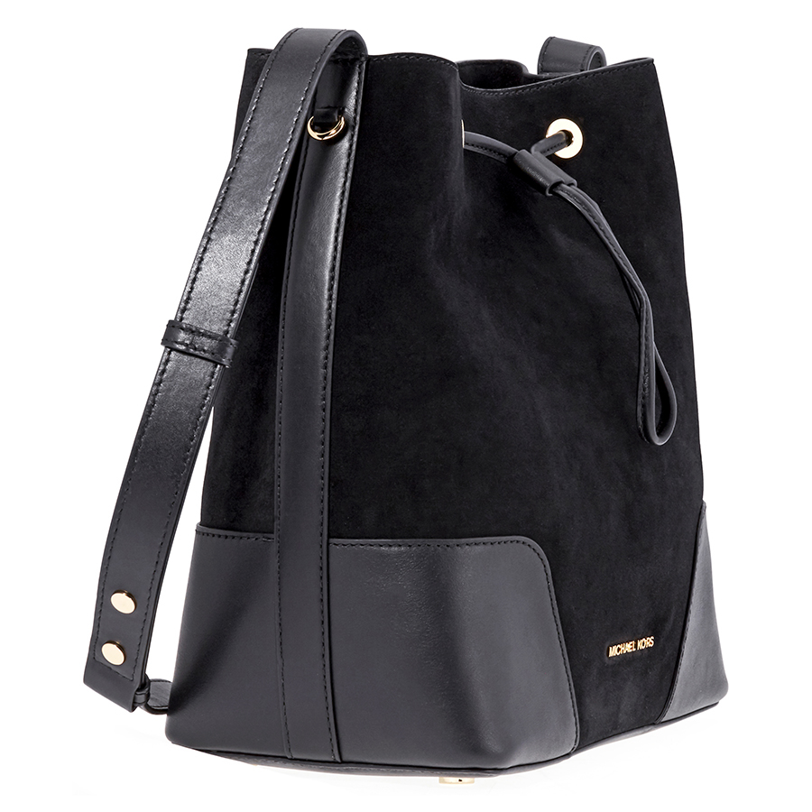 a17f4f1400e5 Michael Kors Cary Medium Suede and Leather Bucket Bag - Choose color ...