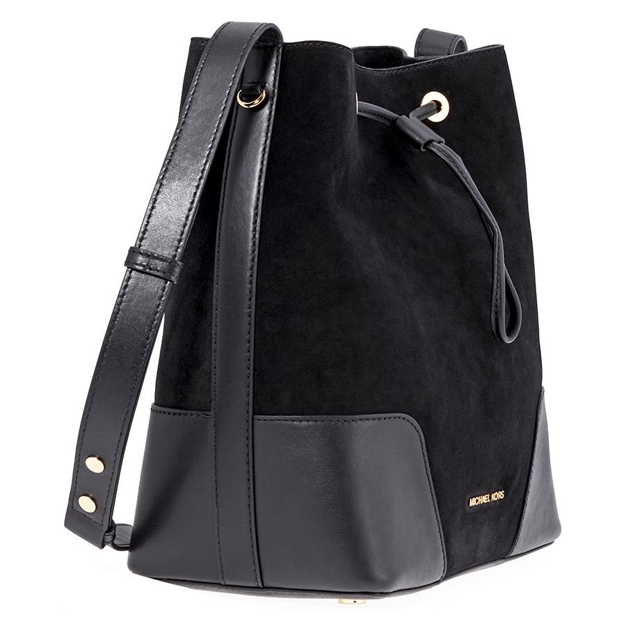 e0ac013e1edd Michael Kors Cary Medium Suede and Leather Bucket Bag - Choose color ...