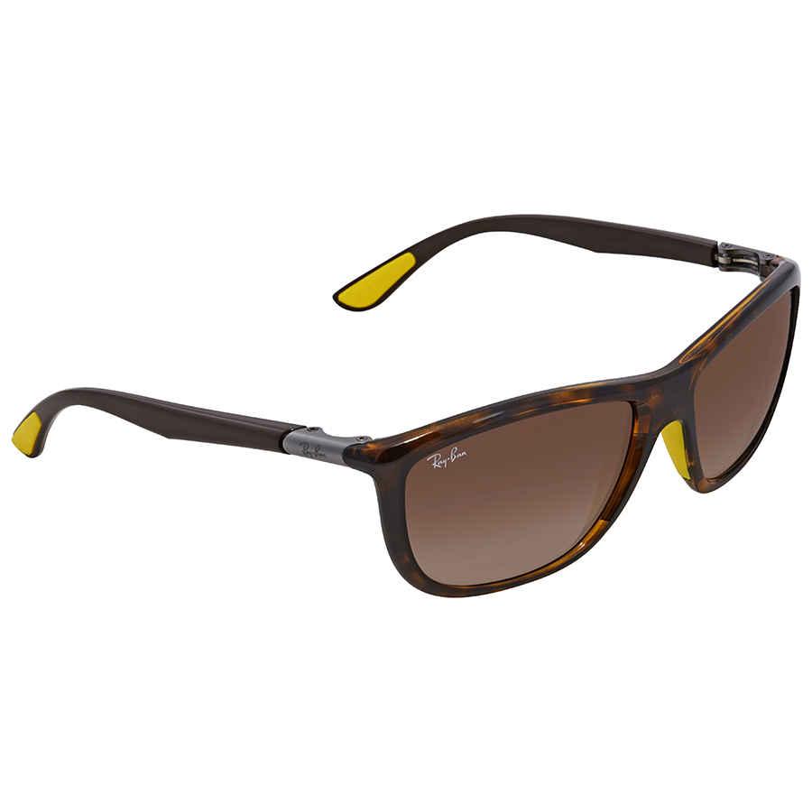 59a9b4004ac Ray Ban Scuderia Ferrari Brown Gradient Square Sunglasses RB8351M F60913 60