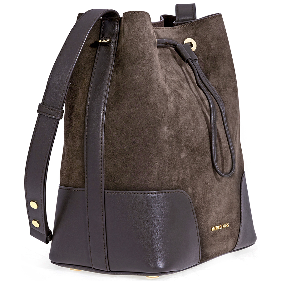 cb985a3f049d1f Michael Kors Cary Medium Suede and Leather Bucket Bag - Choose color ...