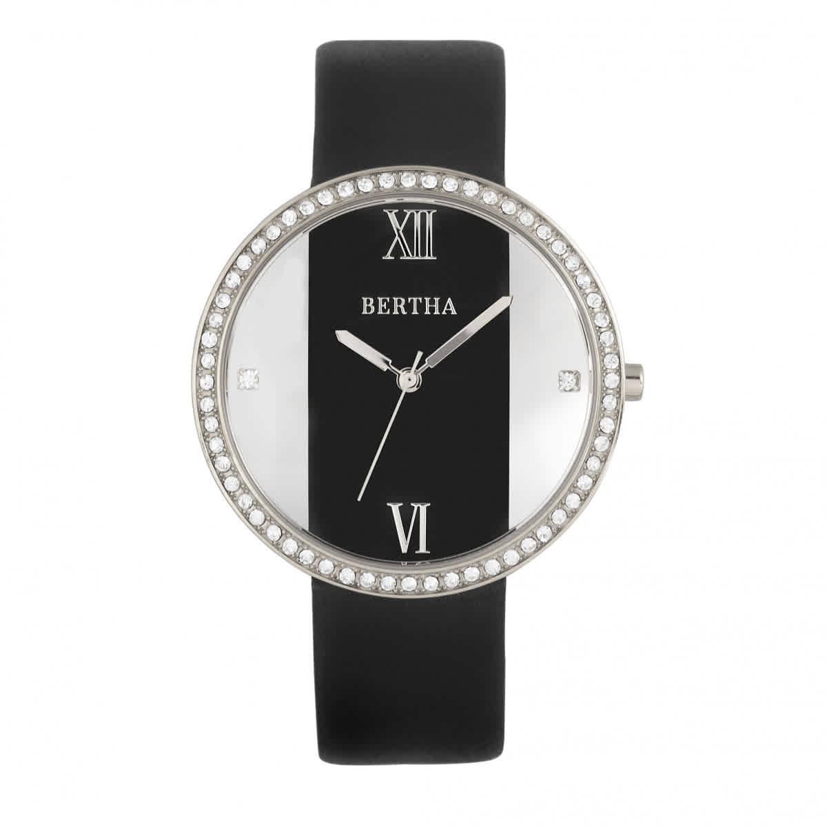 Bertha Ingrid Quartz Crystal Black Dial Ladies Watch BR9101 ... 3e45b7f75a