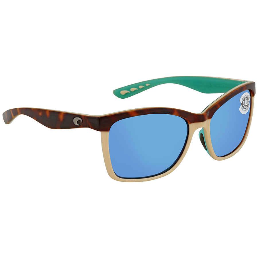 a95caacc6f1 Costa Del Mar Anaa Blue Mirror Glass 580 Square Sunglasses ANA 105 OBMGLP