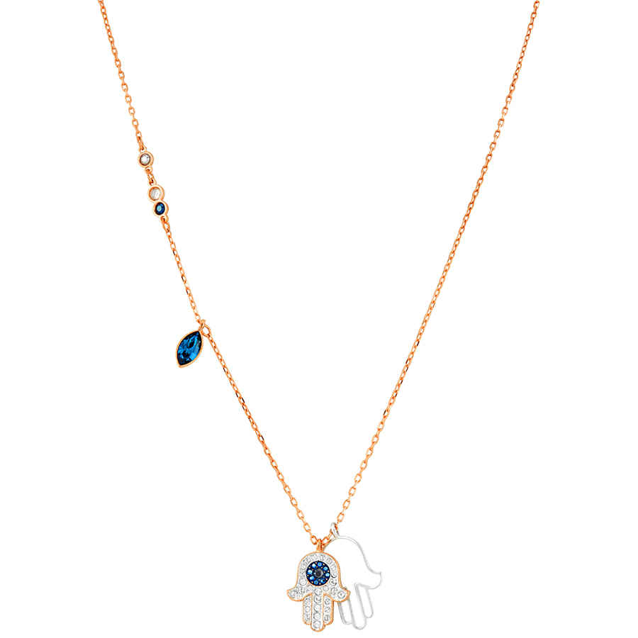 0e588d59d25ed Details about Swarovski Rose Gold Hamsa Hand Necklace