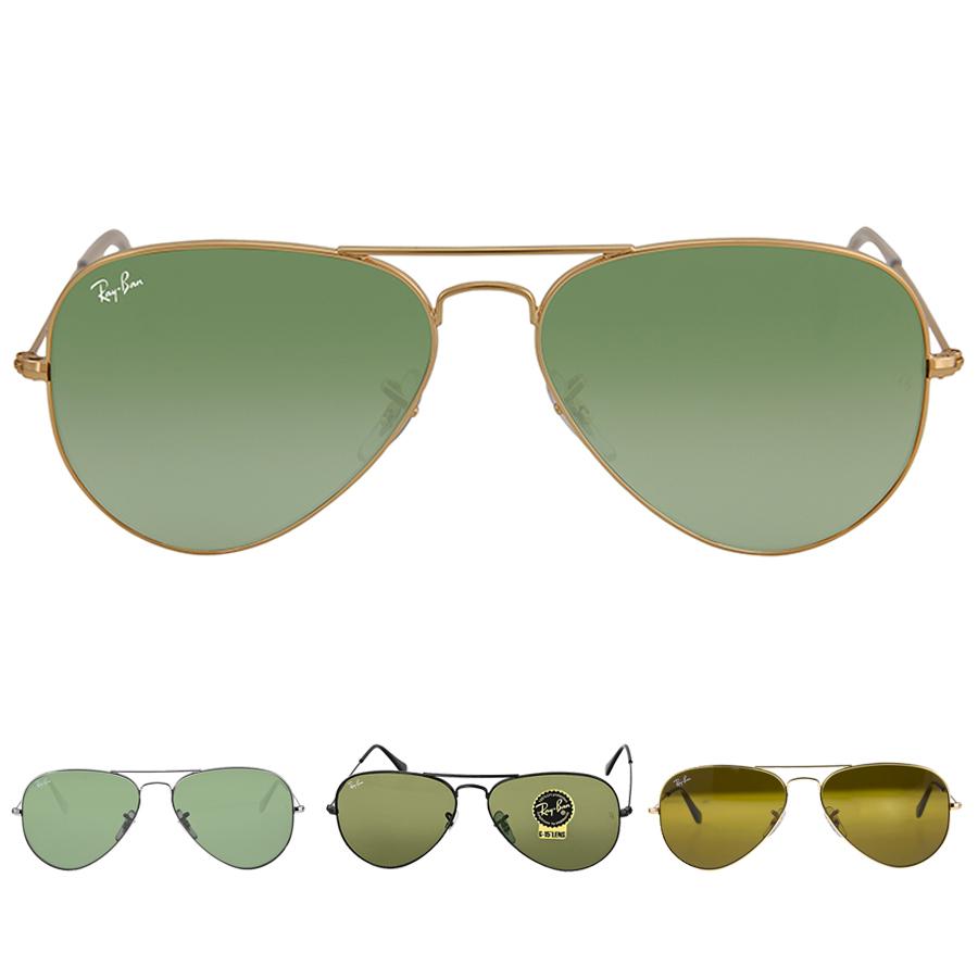 270f33345d81c Ray Ban Aviator Brown Classic B-15 Men s Sunglasses RB3025 001 33 58-14