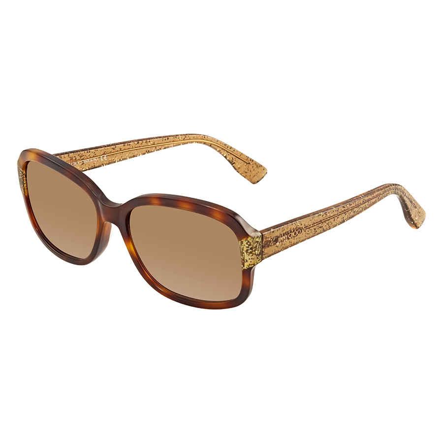 c9dbcda76d4a Jimmy Choo Brown Gradient Rectangular Sunglasses KYLE S 0Q9W 57 KYLE ...