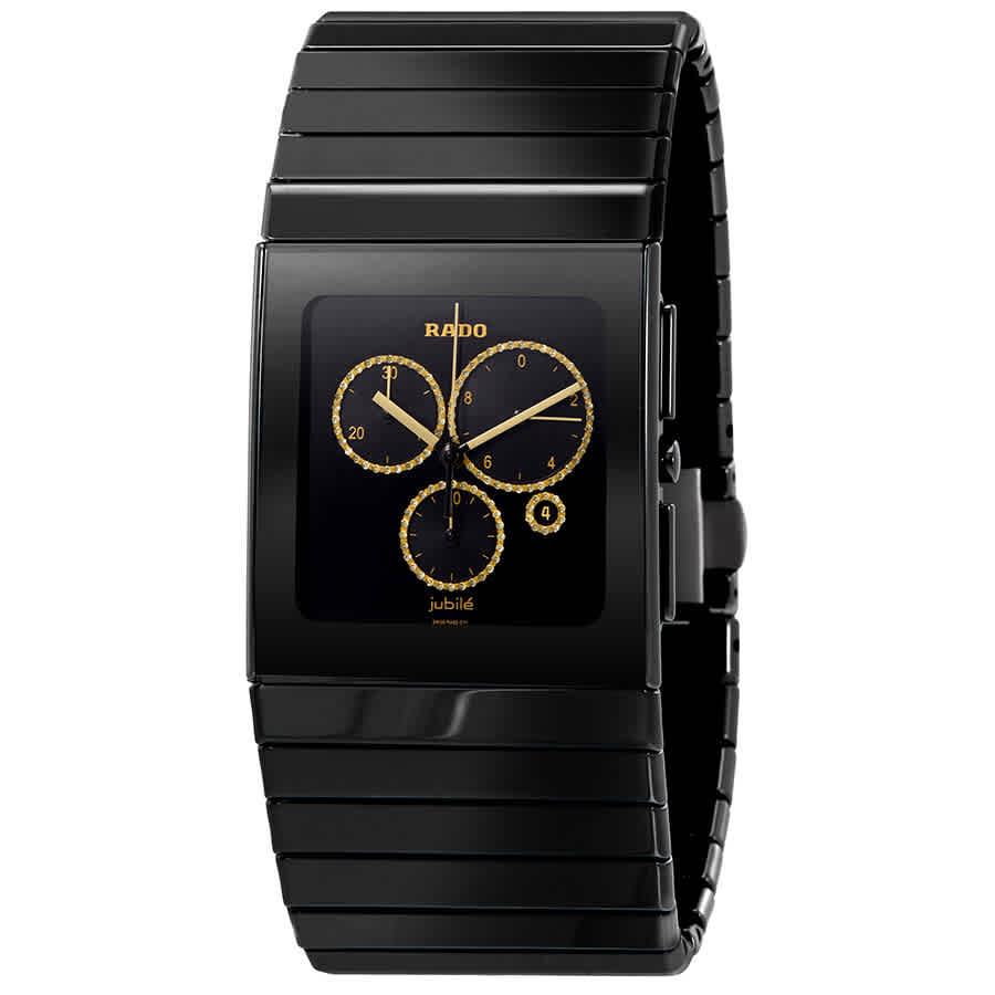 c3662a3c4 Rado Ceramica XL Chronograph Black Dial Men's Watch R21714712 ...