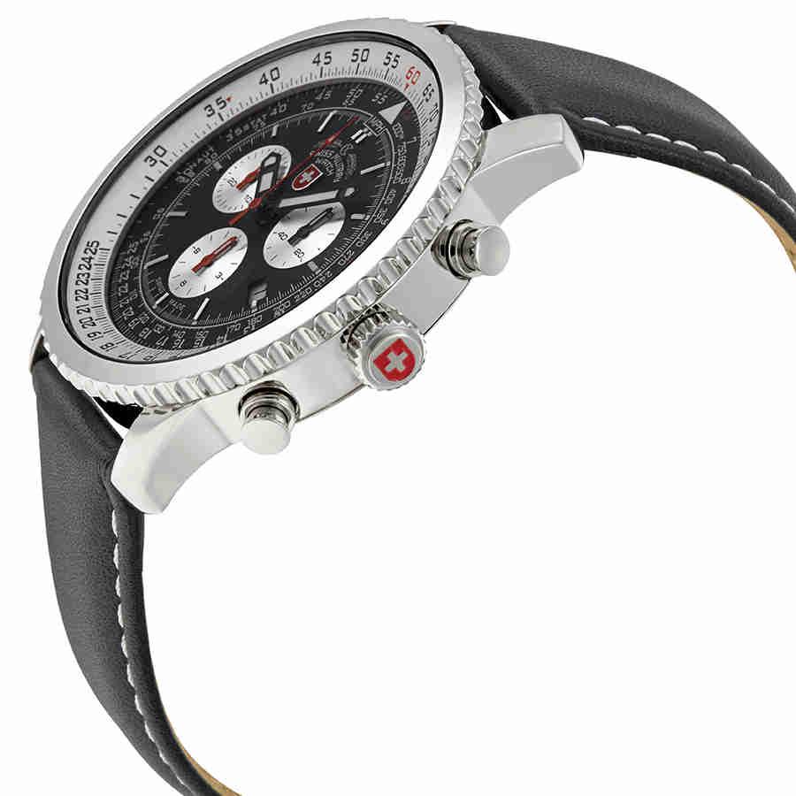 Swiss-Military-Thunderbolt-Men-039-s-Chronograph-Watch-Choose-color thumbnail 12