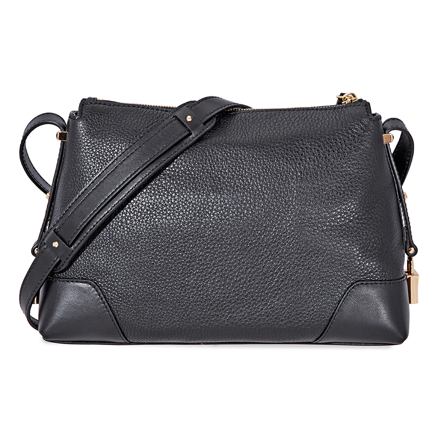 Michael-Kors-Crosby-Medium-Pebbled-Leather-Messenger-Bag-Choose-color miniatura 10