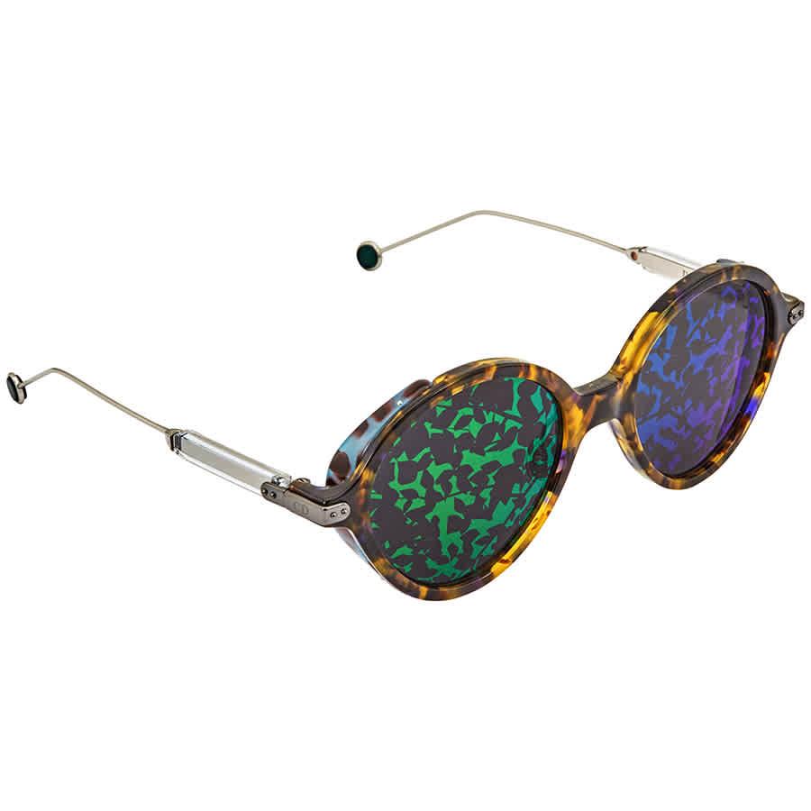 a8f7914f5eaf Dior Rumbrage Grey, Green Mirror Leaf Oval Ladies Sunglasses DIORUMBRAGE  0X8/TW 52