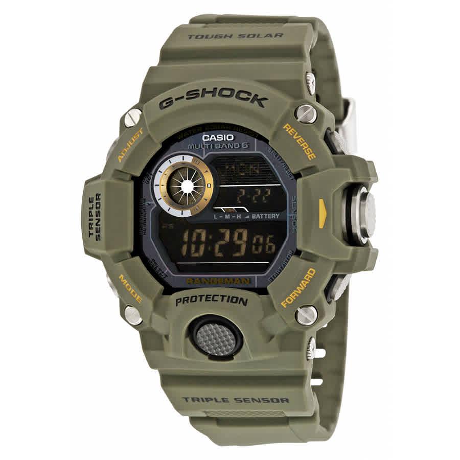 5686885cbf0 Casio G-Shock Digital Dial Green Resin Men s Watch GW9400-3CR ...