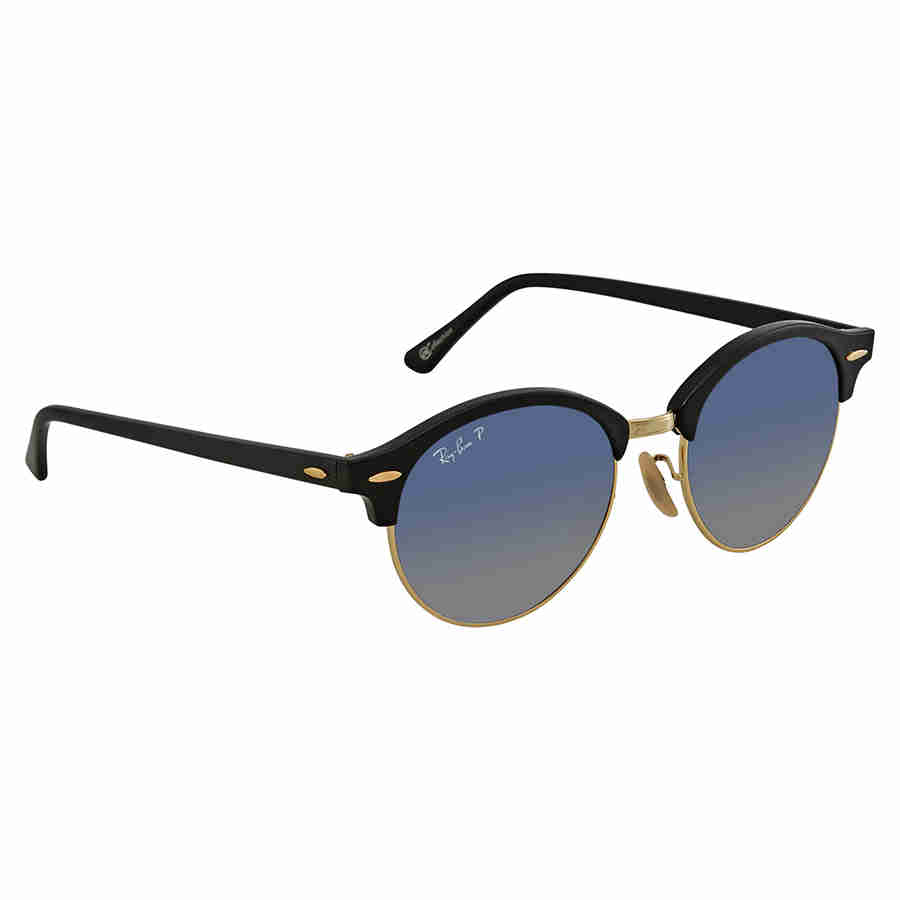 7ef124cc65 Ray Ban Clubround Polarized Blue Grey Gradient Round Sunglasses RB4246 901 78  51