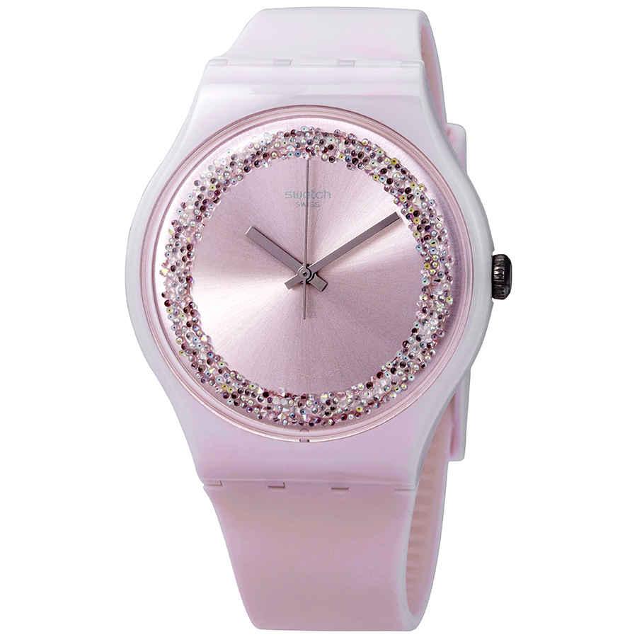 Swatch Pinksparkles Light Pink Crystal Dial Men S Watch Suop110