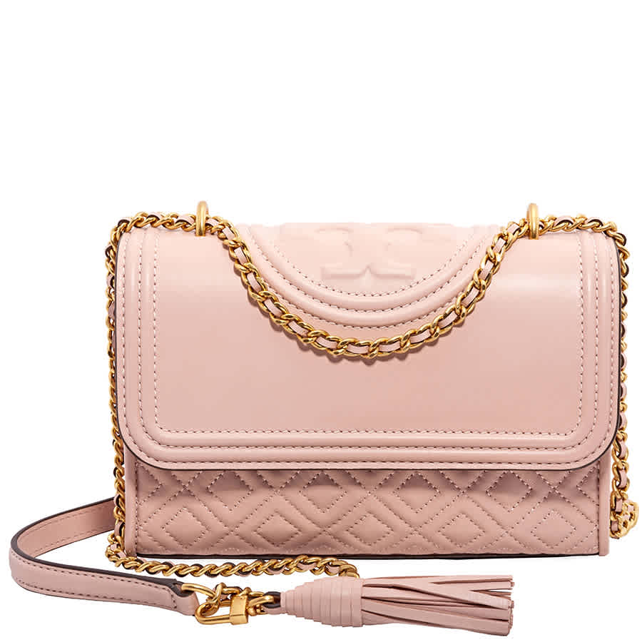 980fcb39d510 Tory Burch Fleming Small Convertible Leather Shoulder Bag- Shell Pink