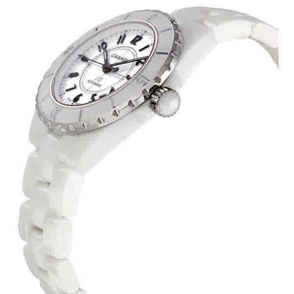 0cd601d5a1d2 Chanel J12 White Automatic White Dial White Ceramic Watch H0970 ...