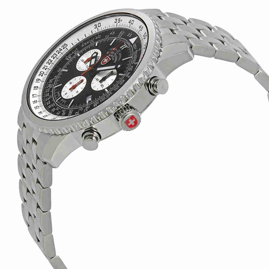 Swiss-Military-Thunderbolt-Men-039-s-Chronograph-Watch-Choose-color thumbnail 9