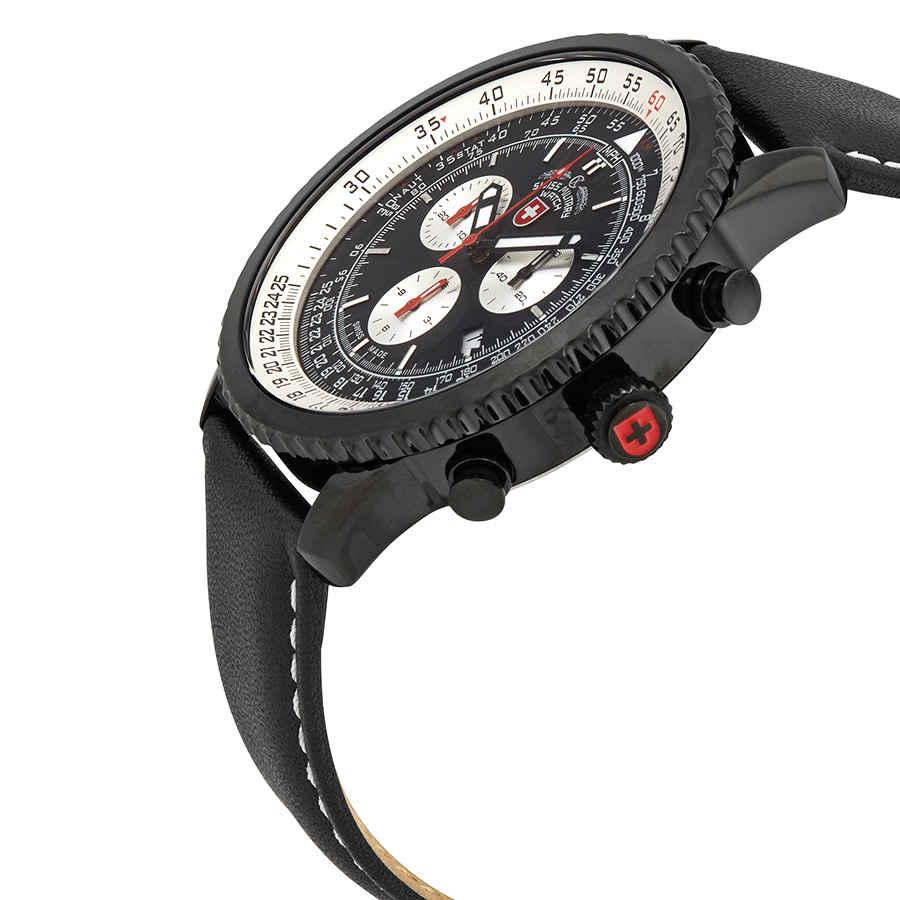 Swiss-Military-Thunderbolt-Men-039-s-Chronograph-Watch-Choose-color thumbnail 3