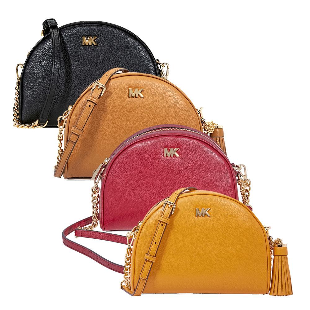 492c97e87480 Michael Kors Ginny Pebbled Leather Half-Moon Crossbody Bag - Choose ...