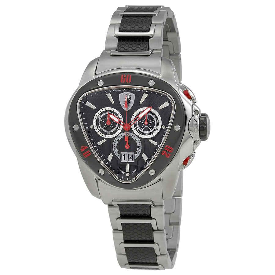 Lamborghini Spyder 1100 Chronograph Black Slate Dial Men S Watch