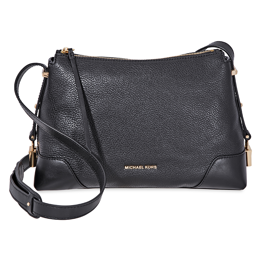 Michael-Kors-Crosby-Medium-Pebbled-Leather-Messenger-Bag-Choose-color miniatura 11